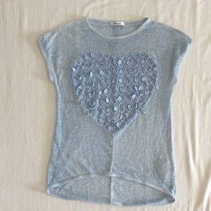 Tops - Sheer Blue Tee Shirt